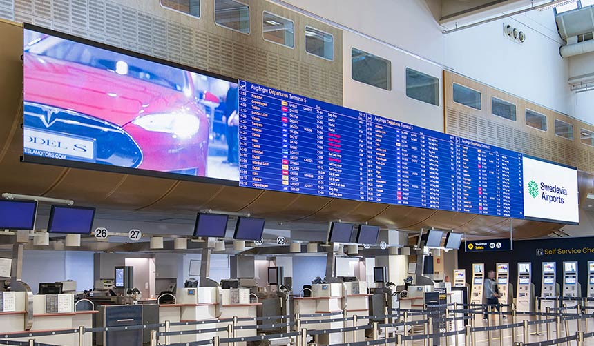 Airport Information Board Innox 2.6 LED Video Wall